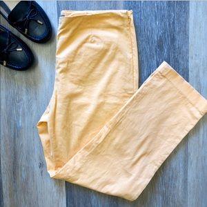 J. Jill Flat Front Cotton Stretch Cropped Pants